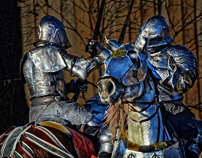 Photograph - Knights Bound In Battle by Maggy Marsh