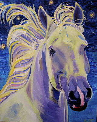 Horse Painting - Knights In White Satin by Anne West