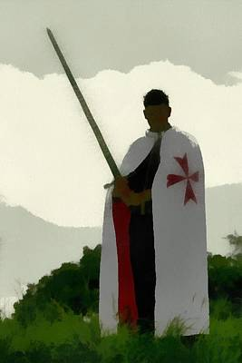 Templar Painting - Knights Templar 1 by Esoterica Art Agency