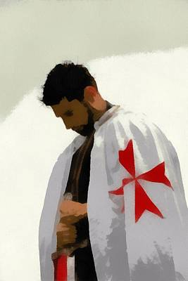 Templar Painting - Knights Templar 2 by Esoterica Art Agency
