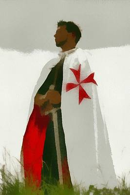 Templar Painting - Knights Templar 3 by Esoterica Art Agency