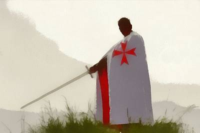Templar Painting - Knights Templar 4 by Esoterica Art Agency