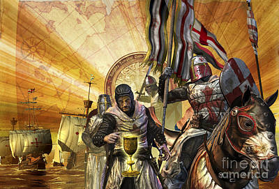 Animal Themes Digital Art - Knights Templar Are On A Mission by Kurt Miller