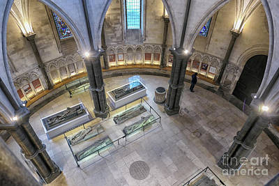 Photograph - Knights Templar Sarcophaguses In London by Patricia Hofmeester