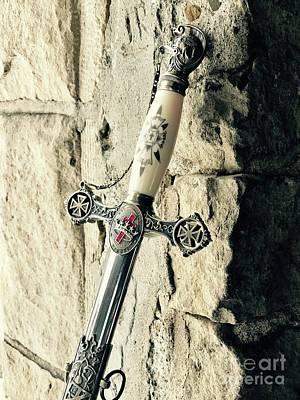 Photograph - Knights Templar Sword 2 by Michael Krek