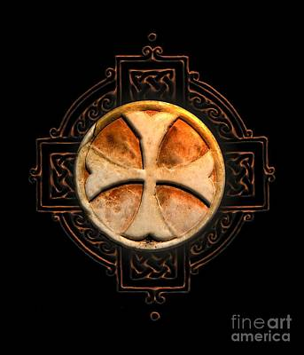 Fantasy Royalty-Free and Rights-Managed Images - Knights Templar Symbol Re-Imagined by Pierre Blanchard by Esoterica Art Agency