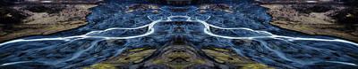 Surrealism Digital Art Rights Managed Images - Knik Glacier Runoff Reflection Royalty-Free Image by Pelo Blanco Photo