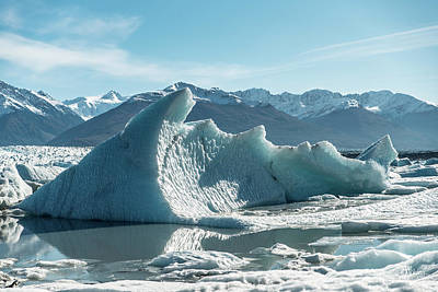 Photograph - Knik Glaicer 2 by Art Atkins