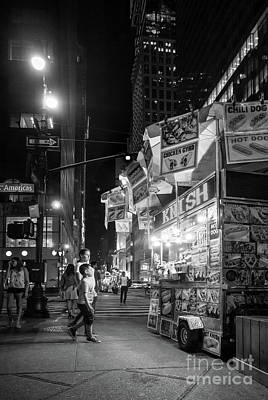 Photograph - Knish, New York City  -17831-17832-bw by John Bald