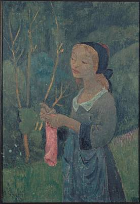 Abstract Painting - Knitter With A Pink Stocking, Paul Serusier by Celestial Images