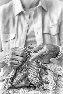 Hand-knitted Photograph - Crochet Hands by Pat Eisenberger