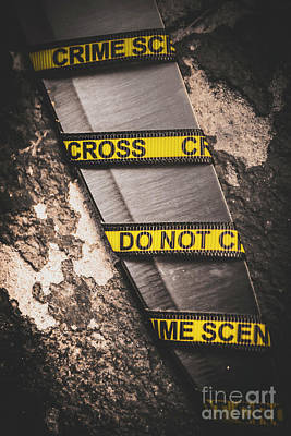Crime Photograph - Knives And Clues by Jorgo Photography - Wall Art Gallery