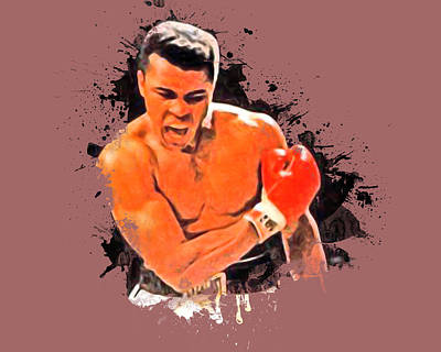 Cassius Clay Digital Art - Knock Out by Russ James