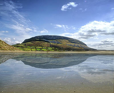 Digital Art - Knocknarae On A Clear Day Reflected In The Wet Sand Of Culleenamore by John Carver