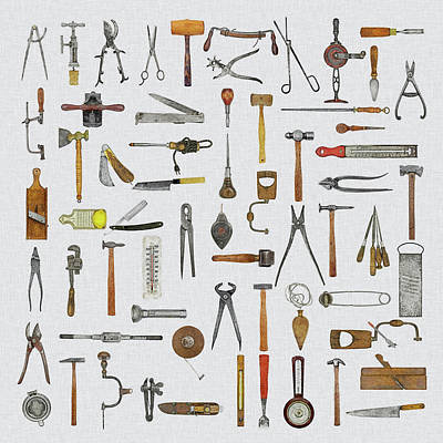 Knolled Tools Art Print