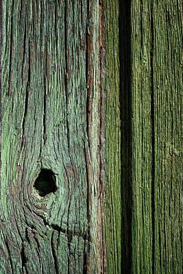 Photograph - Knothole - Green Gate by Nikolyn McDonald