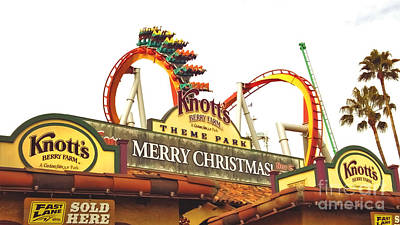 Photograph - Knott's Berry Farm - Merry Christmas by Claudia Ellis
