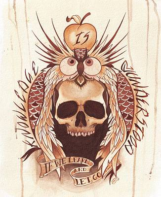 Skull Wall Art - Painting - Knowledge by Deadcharming Art