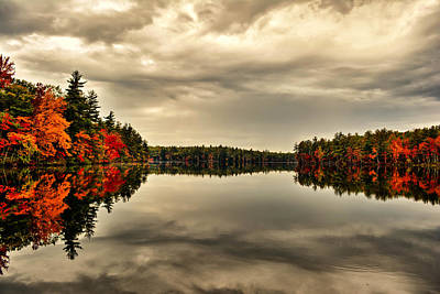 Photograph - Knowles Pond - Northfield Nh by Naturally NH