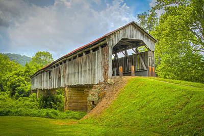 Music Royalty-Free and Rights-Managed Images - Knowlton Covered Bridge  by Jack R Perry