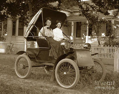 Photograph - Knox  Runabout Auto Automobile 1904 by California Views Archives Mr Pat Hathaway Archives