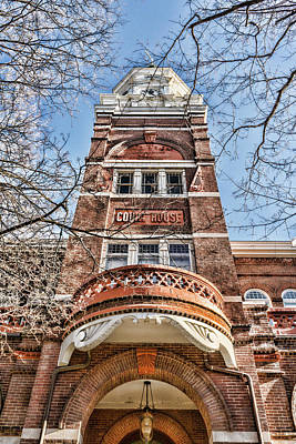 Photograph - Knox County Courthouse Up View by Sharon Popek