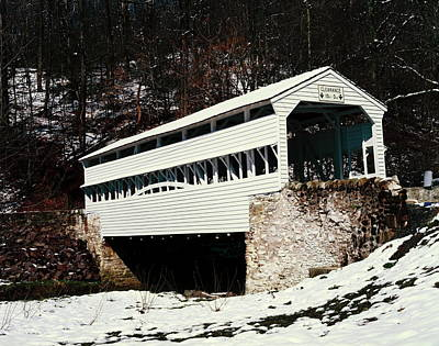 Knox Covered Bridge Historical Place Art Print