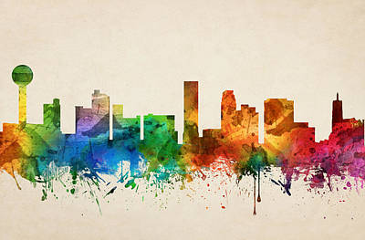 Knoxville Painting - Knoxville Tennessee Skyline 05 by Aged Pixel