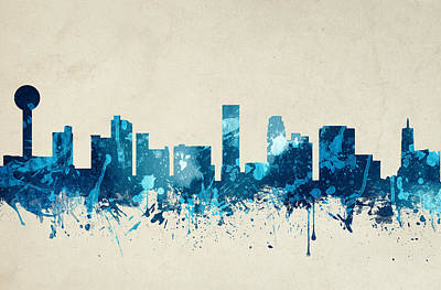 Knoxville Tennessee Skyline 20 Art Print by Aged Pixel