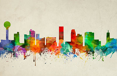 Knoxville Painting - Knoxville Tennessee Skyline 22 by Aged Pixel