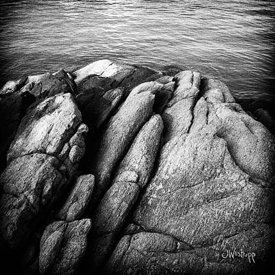 Photograph - Ko Samet Rocks In Black by Joseph Westrupp