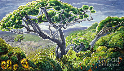 Overcast Day Painting - Koaia by Fay Biegun - Printscapes