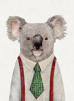 Whimsical Wall Art - Painting - Koala by Animal Crew