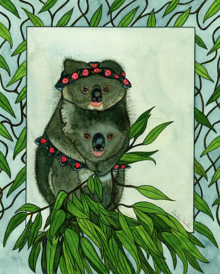 Painting - Koala Bears by Dee Van Houten