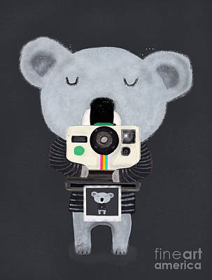 Vintage Camera Painting - Koala Cam by Bleu Bri