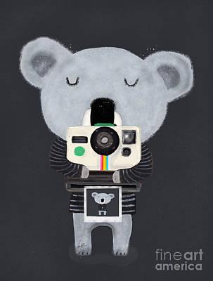 Koala Pop Art Painting - Koala Cam by Bleu Bri