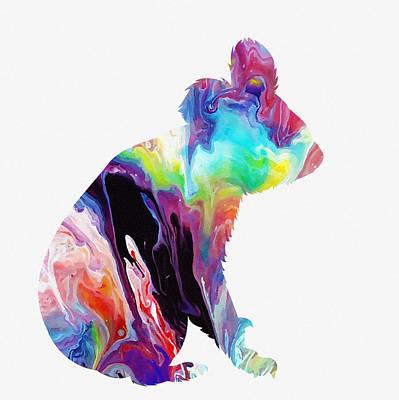 Koala-colorful Art Print