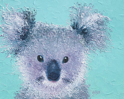 Koala Wall Art - Painting - Koala by Jan Matson