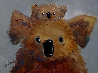 Painting - Koala Love by Terri Einer
