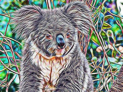 Koala Mixed Media - Koala by Marvin Blaine