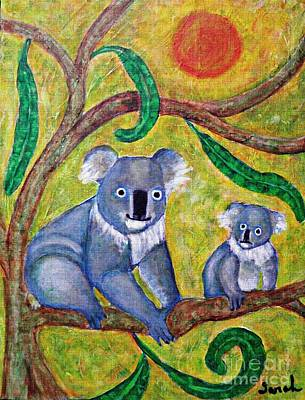 Koala Wall Art - Painting - Koala Sunrise by Sarah Loft