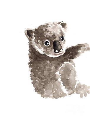 Koala Wall Art - Painting - Koala Watercolor Art Print Painting by Joanna Szmerdt