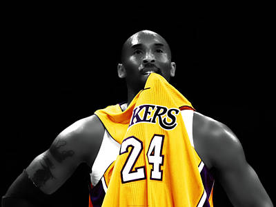 Magic Johnson Digital Art - Kobe Bryant 04c by Brian Reaves