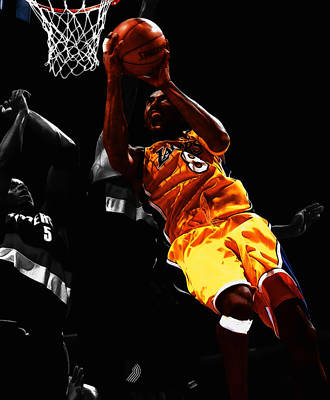 Kobe Bryant 8a Art Print by Brian Reaves