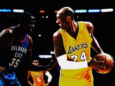 Kobe Bryant And Kevin Durant Art Print