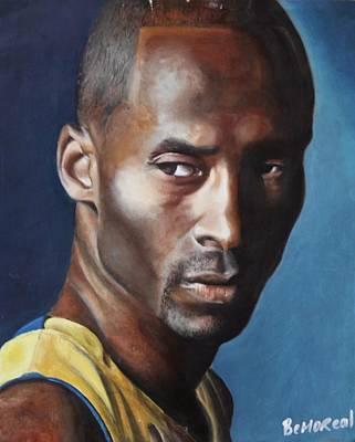 Lakers Drawing - Kobe Bryant  by Bernard Morille
