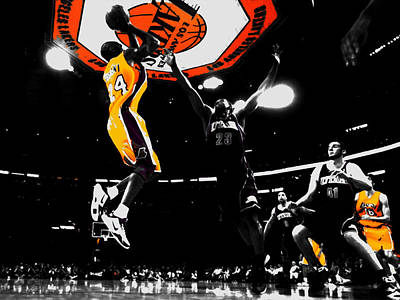 Kobe Bryant Count It Art Print