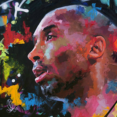 Kobe Painting - Kobe Bryant II by Richard Day