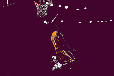 Kobe Bryant In Flight 08b Art Print