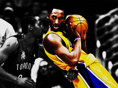 Kobe Bryant School Time Art Print